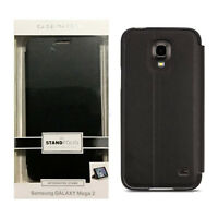 Case Mate Stand Leather Folio Impact Protection Case For Samsung Galaxy Mega 2