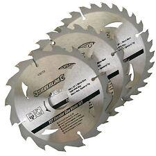 Silverline 3pk TCT Circular Saw Blades 16, 24, 30T  160 x 30  20, 16, 10mm Bore