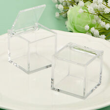 10 x Favour Holder Acrylic Favour Box Cube Wedding Parties Events Sweets Candy