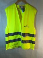 OFFICIAL MASERATI Dealership MENS Employee Issued 3M Reflective Neon Vest Rare