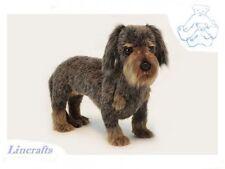 Standing Wire Haired Dachshund  Plush Soft Toy Puppy Dog by Hansa. 6325