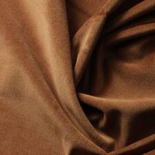 100% COTTON VELVET Upholstery Drapery Fabric 58''-60'' 320gsm SOLID LIGHT BROWN