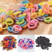 100 Pcs TINY Colorful Kids Girls Baby Hair Holders Bands Hair Elastics Band Ties
