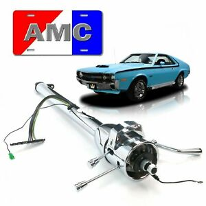 "1958-87 AMC Tilt Steering Column Shift GM 33"" Chrome Concord Gremlin 352 V8 AMX"