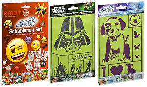 Revell Orbis Schablonen Set Emoji + Star Wars + Hund 30224 30484 30482