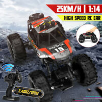 Red 1: 14 4WD 2.4 Ghz Remote Controlled Car Monster Truck Off-road Toy Kids