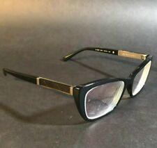 Burberry Womens Cats Eye Black Gold Checkered Eyeglasses Frames B2236 3001