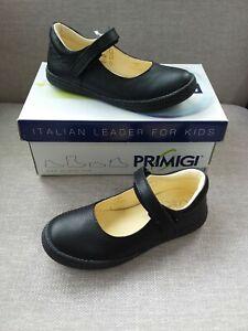 Primigi  Leather Black School Shoes Size 28 UK 10 Brand New