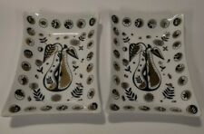 Vintage Mid-Century Georges Briard Rectangle Cocktail Appetizer Plate Lot of 2