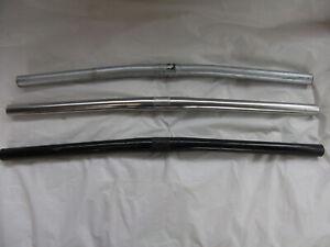 Silver , Chrome or Black steel almost flat handlebars, for MTB or kids bikes