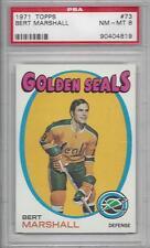 1971 Topps hockey card #73 Bert Marshall California Golden Seals PSA 8 NMMT