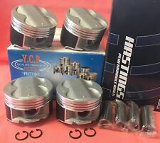 YCP B16 B18 B20 84mm STD Full Floating High Comp Pistons + Rings kit Honda Acura
