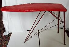 Vintage Toy Ironing Board Folding Red Metal Kids Play