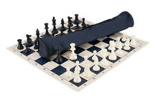 Quiver Chess Set Combination - Triple Weighted - Navy Bag / Board