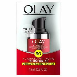 LOT OF 2 Olay Advanced AntiAging Moisturizer W/SPF30 0.5oz Trial Size.EXP:5-2021