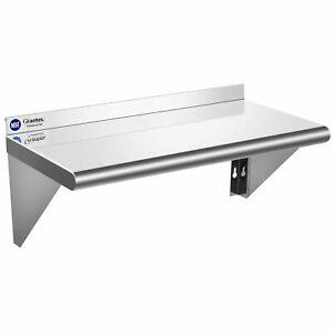 Topbuy Stainless Steel Shelf NSF Commercial Wall Mount Shelf Kitchen Restaurant