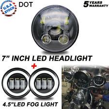"""5-3/4"""" 5.75 LED Headlight + 4.5"""" Fog Light For Ducati Monster 1100 Harley Dyna"""