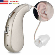 Rechargeable Digital Hearing Aid Severe Loss Invisible BTE Ear Aids HighPower US