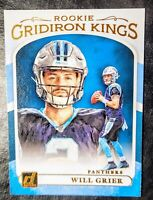 2019 WILL GRIER 💥ROOKIE💥 (GRIDIRON KINGS) Panini Donruss #RGK-5 - PANTHERS