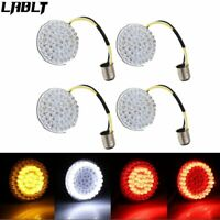 4X Bullet LED Turn Signal Lights Insert Fit For Harley Softail Dyna Street Glide
