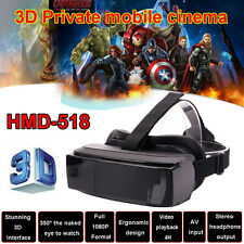 "HMD-518 80"" Virtual Reality 3D Video Glasses Eyewear Smart Private Mobile Q6"