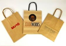Christmas Shopping Gift Bags Lot of 3 Cookworks Sams Shop Taos NM Nuvo Dallas