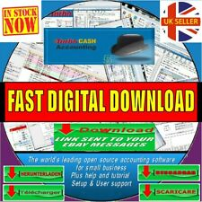 TURBOCASH SMALL BUSINESS&HOME MULTI ACCOUNTING BOOK KEEPING/TAX INSTANT DOWNOAD