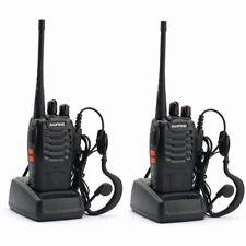 2x Baofeng BF 888s Earpiece UHF 400-470mhz Portable 2-way Radio Walkie Talkie