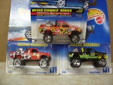 Hot Wheels LOT OF 3  Nissan Hard Body Trucks,  2 #131 & 1 Mixed Signals Series