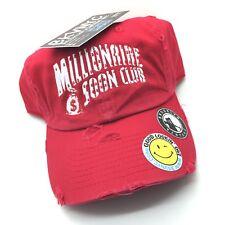 Red Distressed Millionaire Soon Club BBC Dad Cap Hat