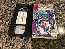 Robo Cop Man In The Iron Suit Rare VHS! Marvel Video