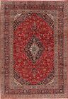 Vintage Floral Oriental Ardakan Area Rug Hand-Knotted Dining Room Carpet 8'x11'