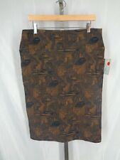 Lularoe Cassie Skirt Size XL Blue Brown Stretch New