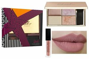 SLEEK Highlighting Palette SOLSTICE + Nude Matte Me Lipstick SHABBY SHIC Set!