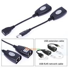 USB 2.0 Extension USB to RJ45 Extender Adapter for Cat5/RJ45/Cat6 Up to 150ft