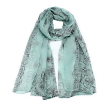 Women Lady Cotton Leopard Print Scarf Wrap Shawls Soft Stole Long Scarf Pashmina