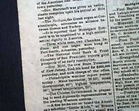 FORT SMITH ARKANSAS Hangings Executions Judge Isaac Parker 1875 Old Newspaper