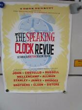 THE SPEAKING CLOCK REVUE Collectible Numbered Tour Poster 10/20/2010 New York