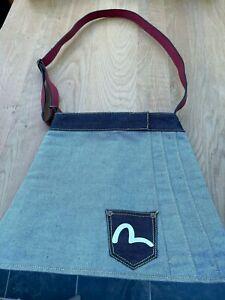 Ladies Vintage Evisu denim skirt bag used twice £140 originally