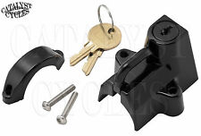 """Universal Helmet Lock for 7/8"""" - 1-1/4"""" Frame Tube & Bars, Lockable Helmet Latch"""
