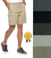 Croft Barrow Mens Flex Waist Cargo Shorts Cotton size 32 34 36 38 40 42 44 NEW