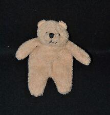 Peluche doudou mini ours BENGY éponge brun marron 14 cm TTBE
