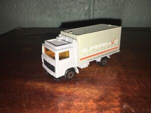 "1:87 1981 MATCHBOX VOLVO BOX TRUCK ""SUPERSAVE DRUG STORES"" MADE IN MACAU"