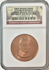 2008 First Spouse Series Elizabeth Monroe Bronze Medal -NGC Brilliant UNC #35538
