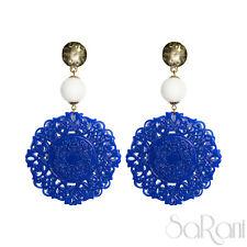 Boucles D'oreilles Or Bijoux De Fantaisie Bijoux Bleu Femme Perles Blanc