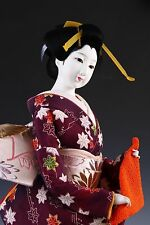 Rare Beautiful Japanese KYOTO Geisha Doll -TEA TIME-