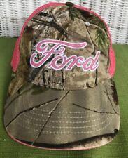 Ford Motors Licensed APG Infinity Camouflage Pink Glitter Baseball Hat Cap