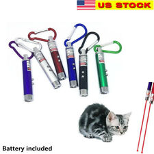 4 Pack Laser Tease Cat Dog Toy, 2 in 1 Flashlight and Red Light, Assorted Colors