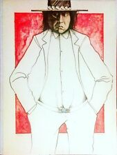 "Ed Singer (Dine) ""Who Is RC Gorman"" Most Famous Hand Signed Stone Lithograph!"