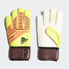 New adidas Soccer Adult Predator Replique Goalie Gloves Solar Yellow/Red/Black 9